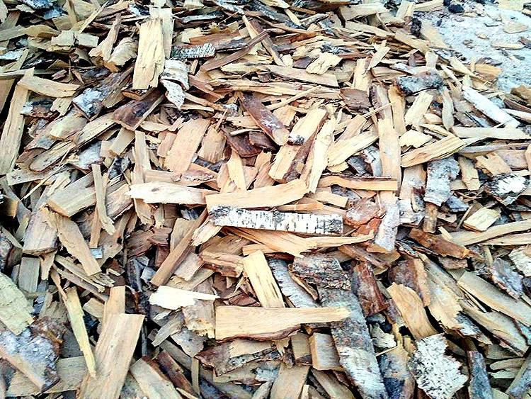 Мелкие березовые дрова, щепки